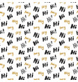 hi and hey lettering sign seamless pattern hand vector image vector image