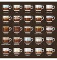 Infographic with coffee types vector image