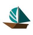 isolated sailboat icon image vector image vector image