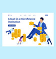 isometric microfinance organization vector image vector image