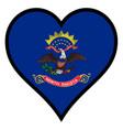 love north dakota vector image vector image