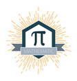 Mathematic Pi icon flat vector image