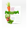 menu pattern with vegetables vector image vector image