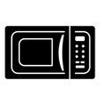 microwave icon simple black style vector image