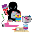 mole home painter vector image vector image