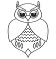 Owl icon3 resize vector image