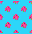 pattern with flowers cherry vector image