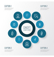 people outline icons set collection of business vector image vector image