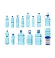 plastic water bottles set vector image