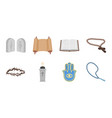 religion and belief icons in set collection for vector image vector image