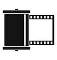 retro camera film icon simple style vector image