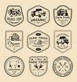 retro set of farm fresh logotypes vintage vector image vector image