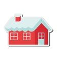 santa claus house icon vector image