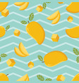 seamless background pattern yellow mango vector image vector image