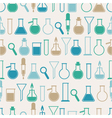 seamless pattern with laboratory equipment vector image