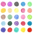 set colorful watercolor hand painted circle vector image vector image