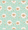 sheep seamless baby pattern vector image vector image