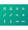 Simple touch pad gestures icons on green vector image vector image