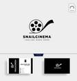 snail cinema movie video simple art film logo vector image vector image