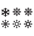 snowflake winter icon on white background flat vector image