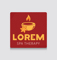 spa logo template vector image