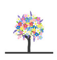 spring flowering tree with colorful blossom vector image vector image