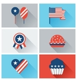 united states america independence day icon set vector image vector image