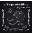 Vegetarian lifestyle background vector image
