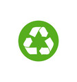 waste logo sign arrow reuse earth recycle vector image