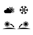 weather and sun simple related icons vector image