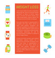 weight loss pedometer poster vector image