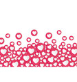 white background with hearts signs social network vector image vector image