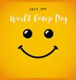 world emoji day july 17 banner vector image