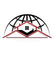 world property logo design template vector image
