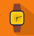wristwatch retro icon flat style vector image