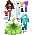 African American Girl Princess Dress Up vector image