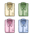 blue polo or shirt classic man and accessory vector image