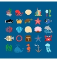 Underwater life and ocean animals vector image