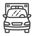 ambulance line icon transport and vehicle vector image