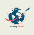 journey through the world vector image