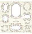 Design elements and page decoration vintage frames vector image