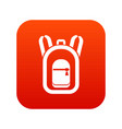 backpack icon digital red vector image vector image