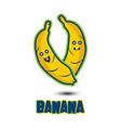 banana cartoon vector image vector image