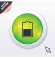 Battery half level sign icon Low electricity vector image vector image