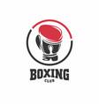 boxing club symbol vector image