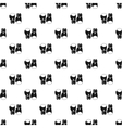 Boxing gloves pattern simple style vector image