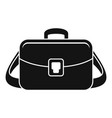 Camera bag icon simple style