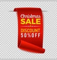 christmas sale paper banner vector image vector image