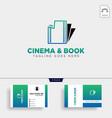 cinema book simple logo template icon element vector image vector image