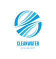 clean water waves logo template concept vector image